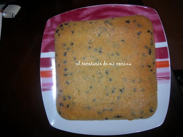 cake a las perlitas de chocolate