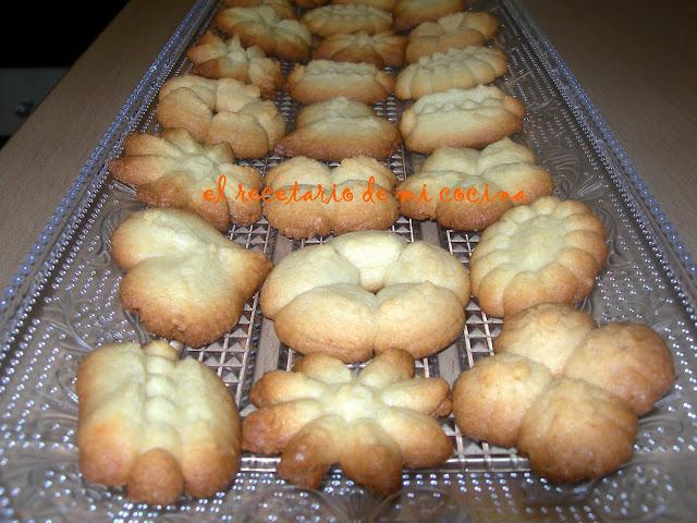 galletas de mantequilla con pistola