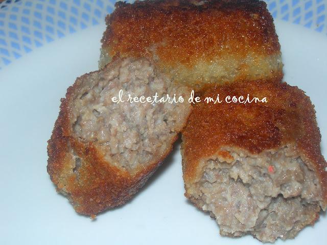 croquetas de carne de cocido