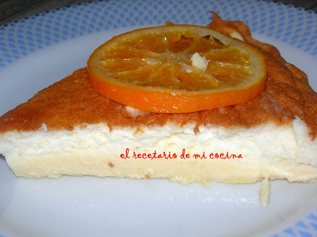 Tarta de queso fresco y mandarinas