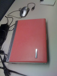 ASUS S6, pink leather, closed