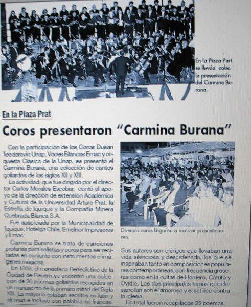 COROS PRESENTARON CARMINA BURANA