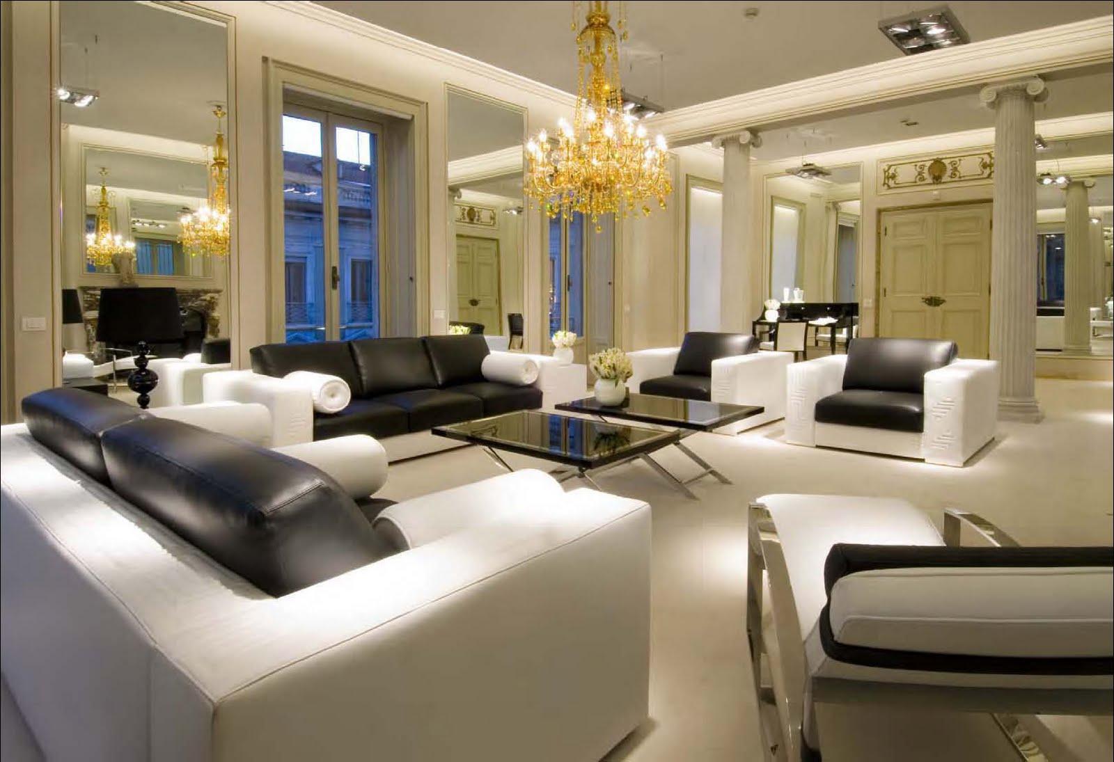 Wyj tkowe wn trze versace w bieli i z ocie for Interior designer milano