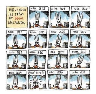 Liniers dibujando 5000 tapas