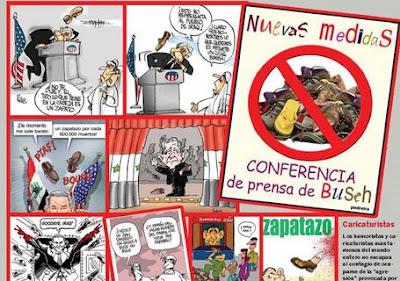 El Zapatazo a Bush, fuente de inspiración para humoristas