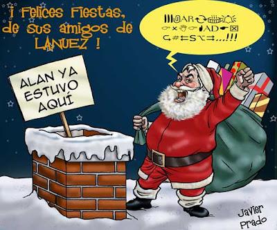 Tarjeta navideña de LaNuez