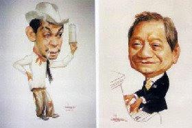 Mario Moreno -Cantinflas- y Armando Manzanero por Luis Carreño