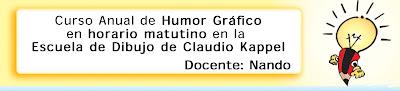 Banner Nuevo Curso de Humor Gráfico por Nando