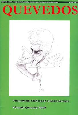Revista QUEVEDOS con portada dibujada por Sábat