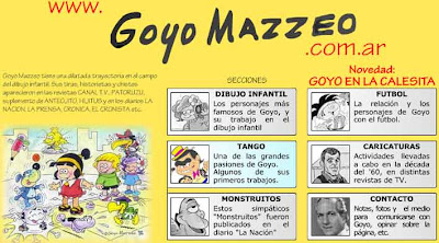 La página web de Goyo Mazzeo