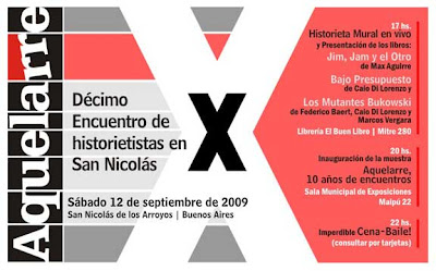 10º Encuentro de Historietistas en San Nicolás AQUELARRE