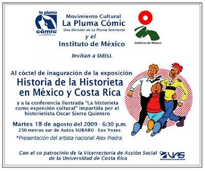 Exposición de La Pluma Cómic sobre la Historia de la Historieta en México y Costa Rica
