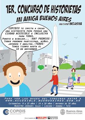 Primer concurso de historieta ´Mi amiga Buenos Aires, una ciudad inclusiva´