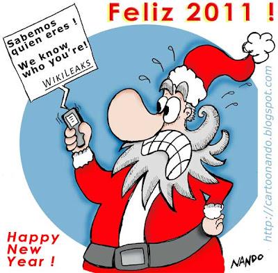 Tarjeta Felices Fiestas - Nando : ein gutes neues Jahr / bon any nou / bonne année / shana tova / Happy new year / felice anno nuovo / feliz ano novo / Новым Годом / yeni yiliniz kutlu olsun