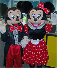 KOSTUM BADUT MICKEY MOUSE&MINNIE MOUSE