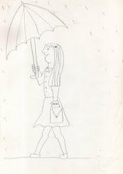 Persona bajo la lluvia