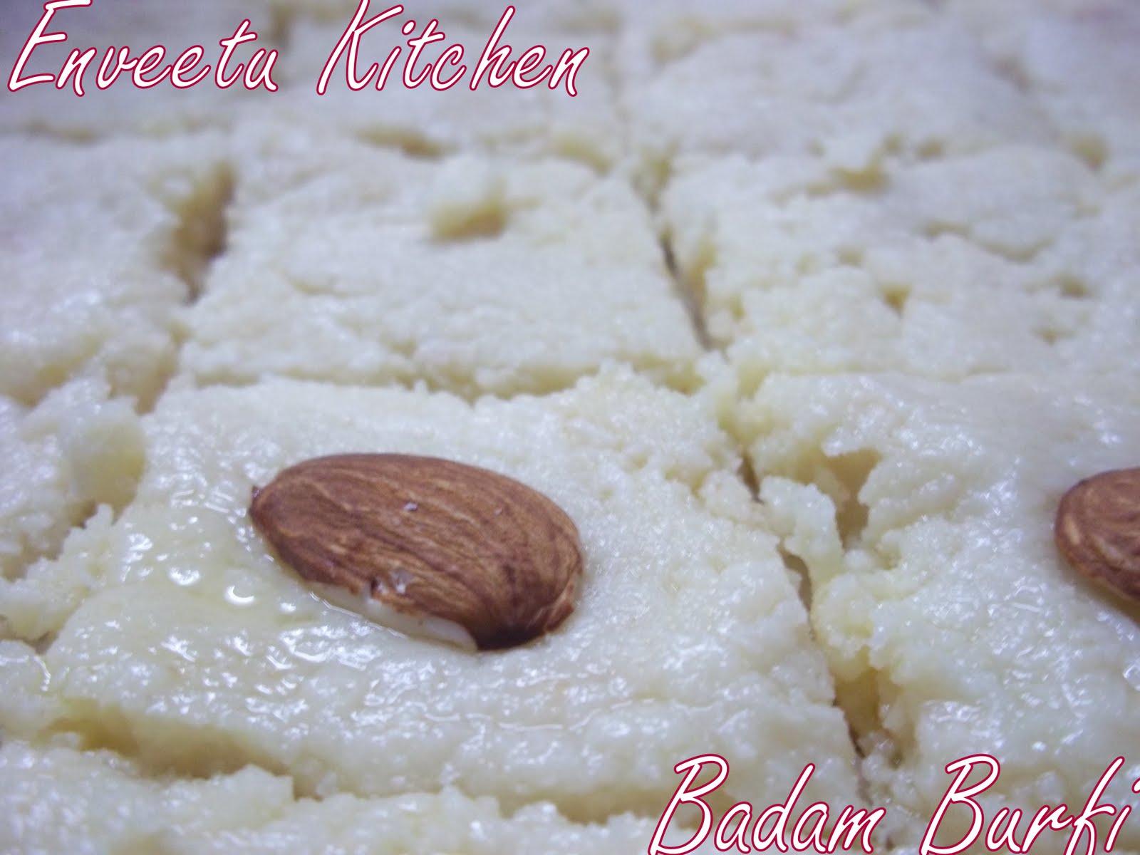 Badam Burfi/Almond Squares ~ I Camp in my Kitchen