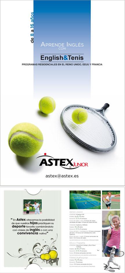 Diptico cursos Verano inglés+tenis Astex