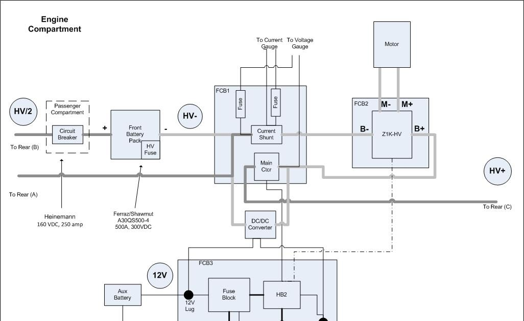 Electric Vehicle Conversion  Electro  Wiring Diagrams  Take 2