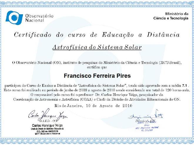 Certificado de Astrofisica