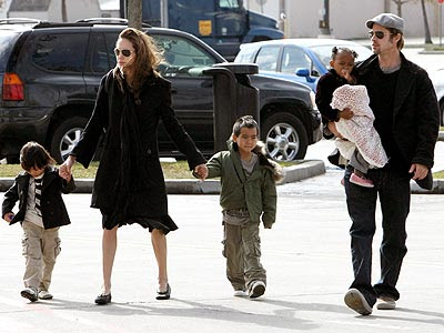 Angelina Jolie and Brad Pitt took three of their four children; Maddox,