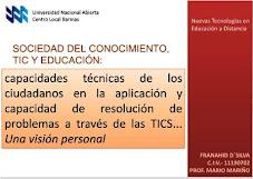Visión personal  sobre el uso de las TICS, SER; SABER; CONOCER; CONVIVIR en ciudadanía