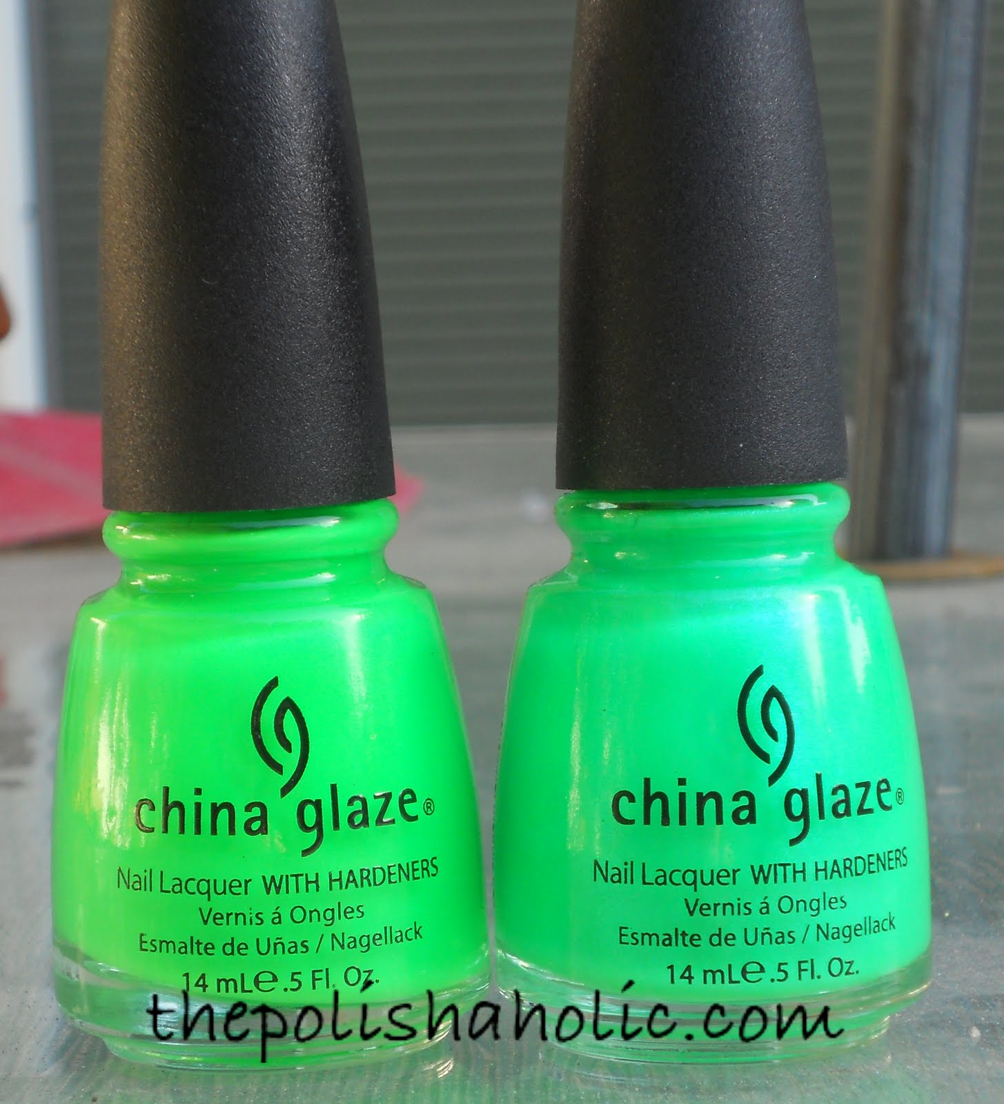 The polishaholic china glaze in the lime light and kiwi cool ada on the nail itll looks a lot lighter in neon terms and the shimmer is noticeable both polishes are great and applied well however itll is a little more nvjuhfo Gallery