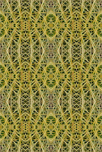 Green Barrel Cactus Thorn Pattern