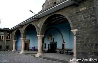 meryem ana kilisesi diyarbakır