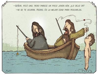 Humor gráfico sobre las religiones y dioses - Página 3 Pescador
