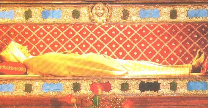 De santa margarita que reposa en la iglesia de cortona italia