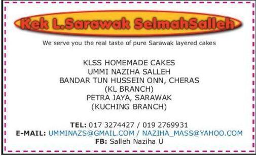 Kek Lapis Sarawak SelmahSalleh (KLSS Home Made Layered Cakes)