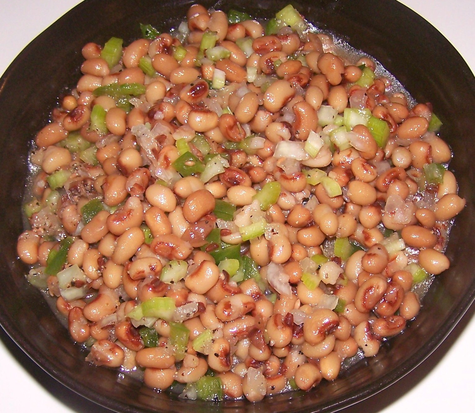Slow Cooked Black Eyed Peas With Ham Recipe — Dishmaps