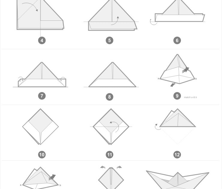 Template For Paper Boat