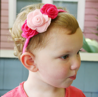 Felt Flower Patterns For Headbands flowered headbands but in
