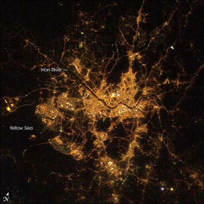 the world from space at night. Newer developments along the