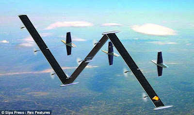 1 Who said anything about landing? The unmanned surveillance plane that can fly for five years non stop