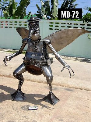 art from steel 65 Hand Made Recycled Statues