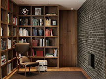 Mid Century Modern Home Library