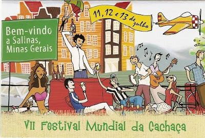 Cartaz do II Festival Mundial da Cachaça 2008, em Salinas (MG)