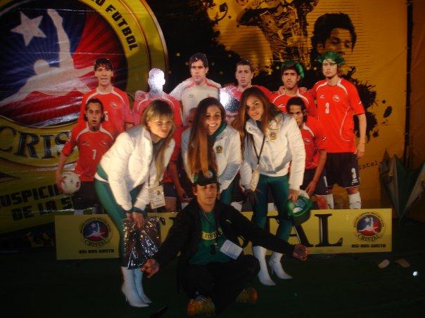 Stand promocional Cerveza Cristal, Estadio Monumental.