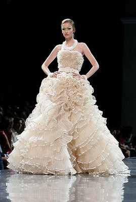 Miss delite christian dior haute couture for John galliano wedding dress