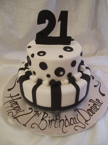 21st Birthday Cake Design For Her : Cake Divine by Lina: Black & White