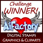My Floral Card won the challenge at AiFactory