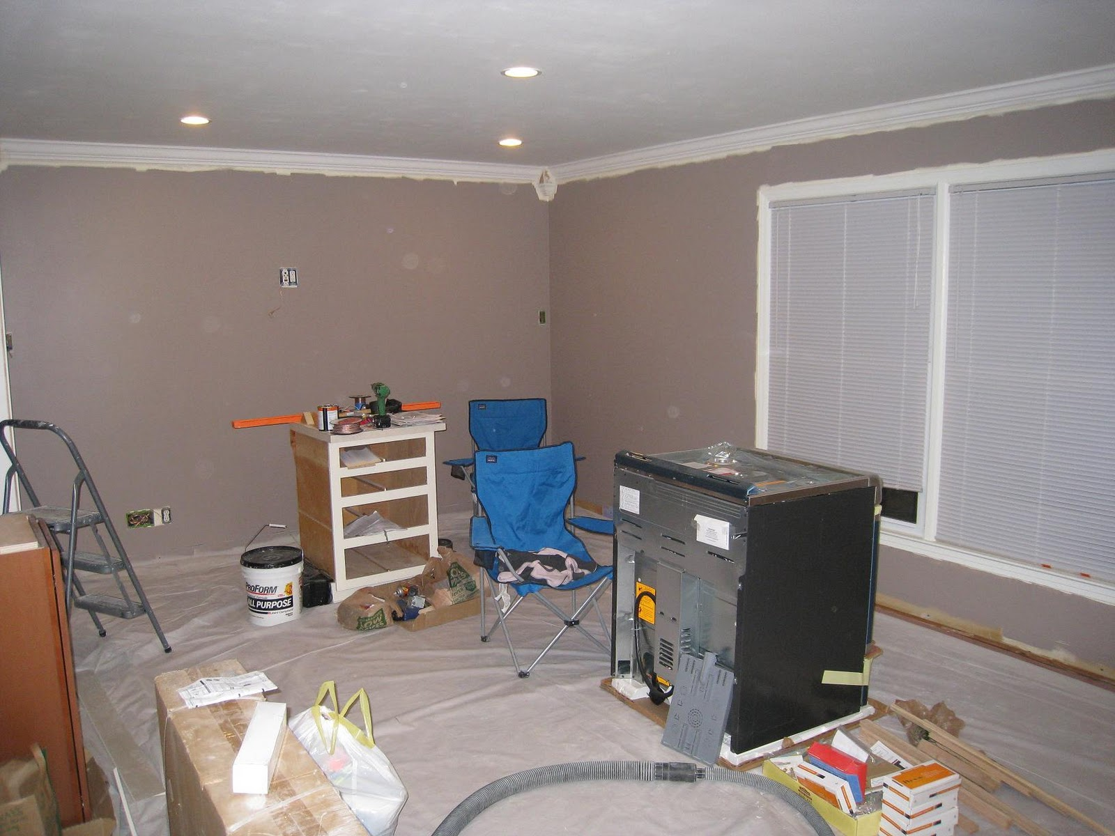 Our Goneaway House Living Room Painted Speakers In