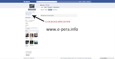 Block Facebook Application Step 4