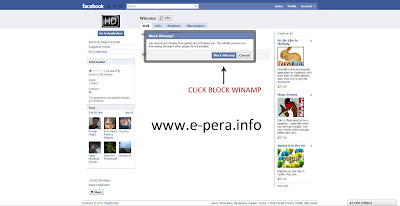 Block Facebook Application Step 5