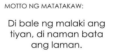 Motto ng mga Matatakaw