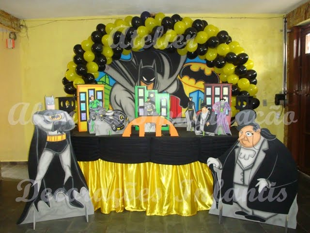 decoracao festa batman:Atelier Além da Imaginação Festas Infantis: DECORAÇÃO BATMAN