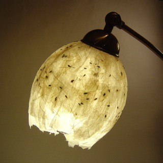 I love handmade lavender lovers 39 lampshade by evalye for How to make paper mache lamps